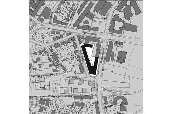 Lageplan Maybach-Quartiere, Stuttgart-Feuerbach
